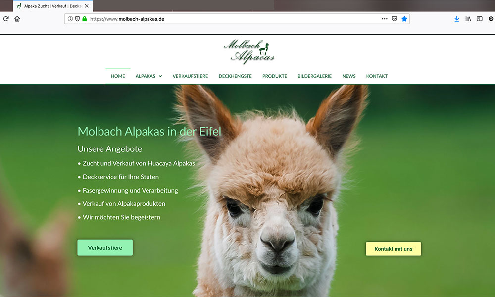 Moblbach Alpaka News - Website